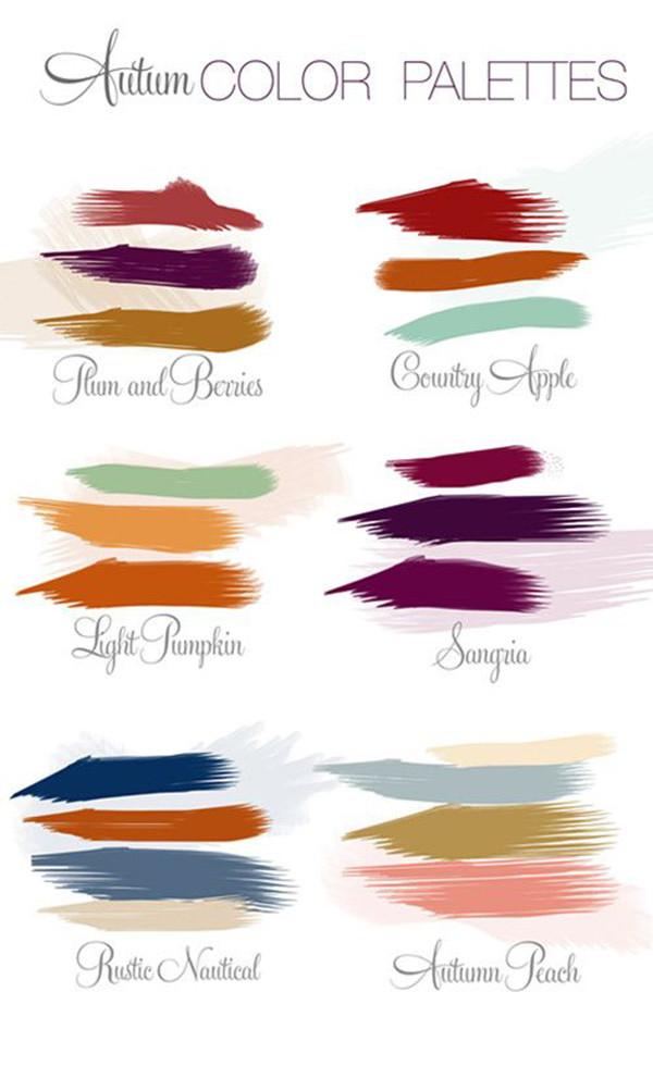 top 6 fall wedding color ideas for autumn weddings