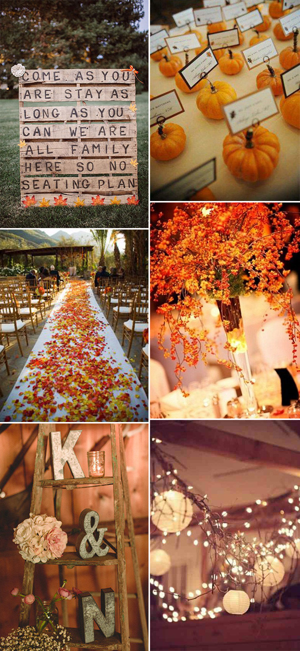 30 great fall wedding ideas for your big day oh best for Autumn wedding decoration ideas