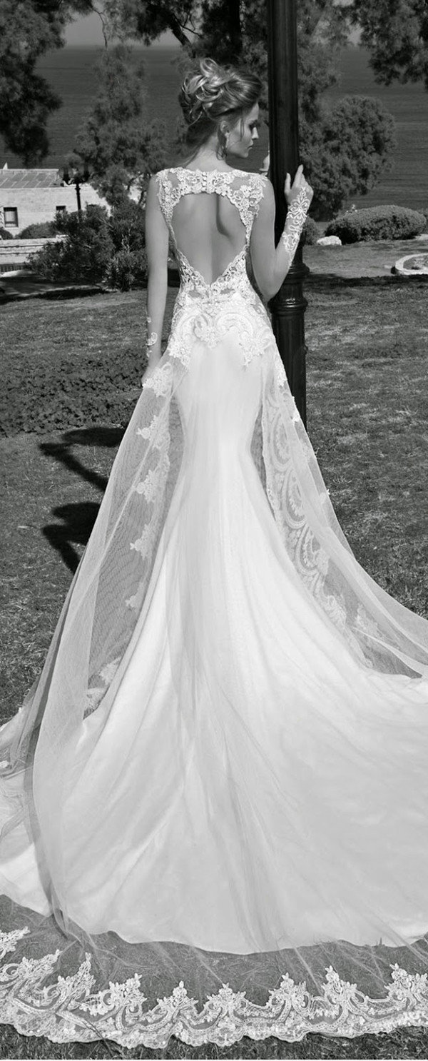 galia lahav heart shape back lace wedding dresses