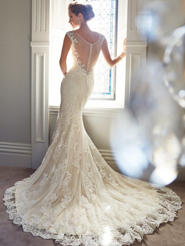 sophia tolli illusion mermaid vintage lace wedding dresses