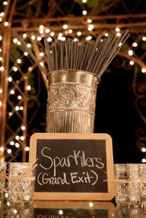 sparklers grand exit for rustic wedding ideas