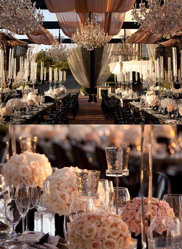 elegant blush pink sophisticated wedding reception ideas