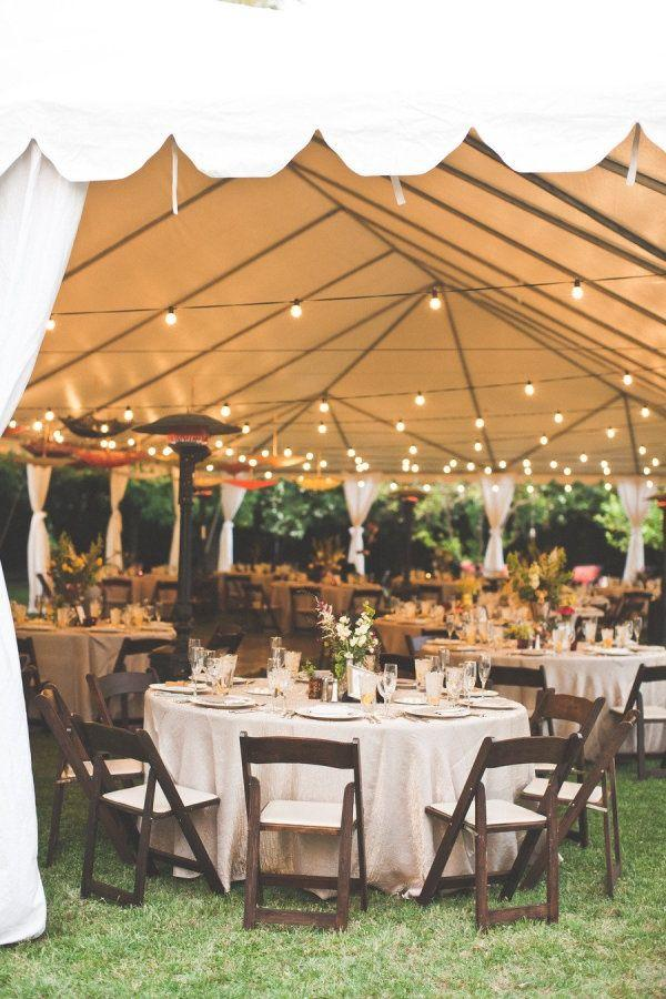 rustic themed outdoor tent wedding reception ideas