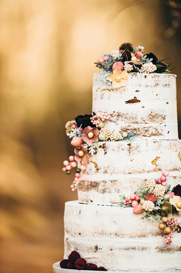 barely naked jewel toned fall wedding cakes 2016