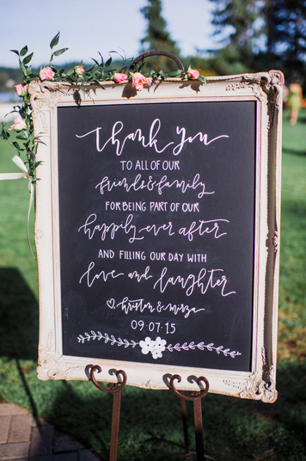 Chic Vintage Chalkboard Wedding Signs For Outdoor Ideas