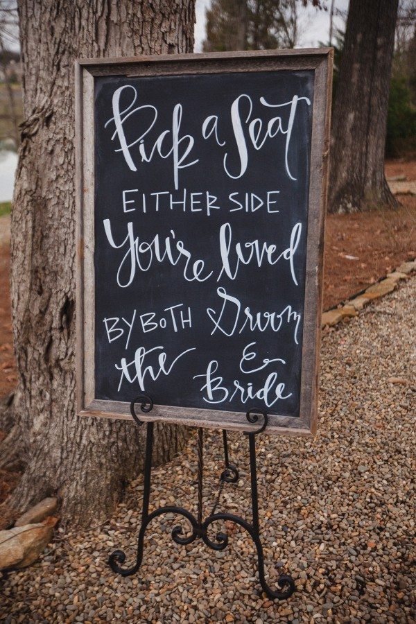 country rustic themed chalkboard wedding sign ideas