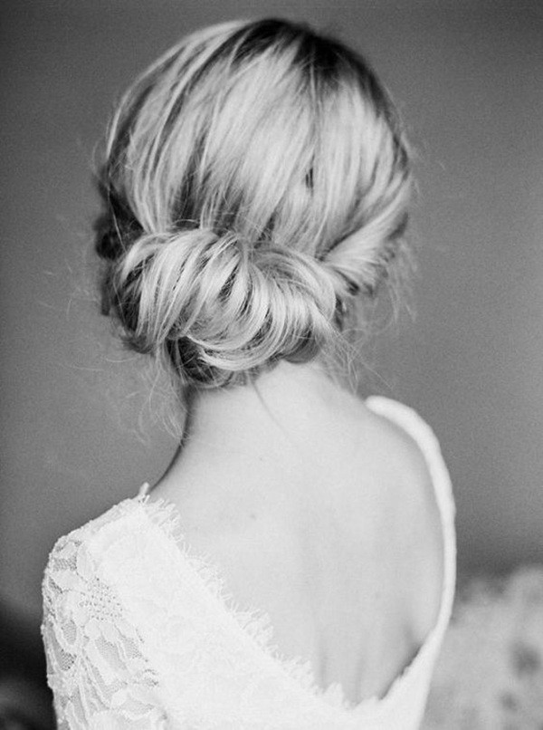 elegant bridal updo wedding hairsytles