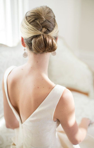 french style updo bridal wedding hair ideas