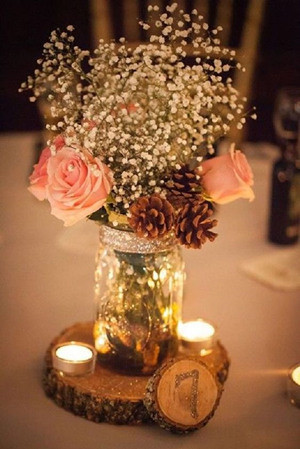 country themed wedding centerpiece ideas for 2017