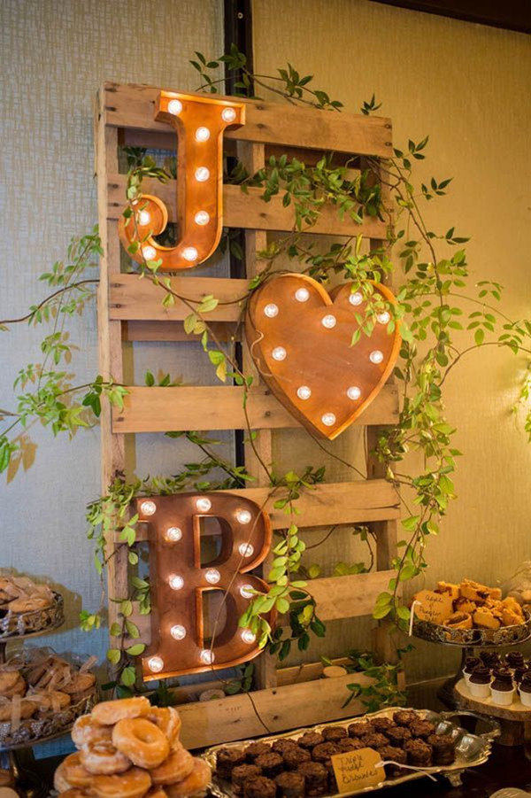 Dessert Table Settings For Country Wedding Ideas 2017