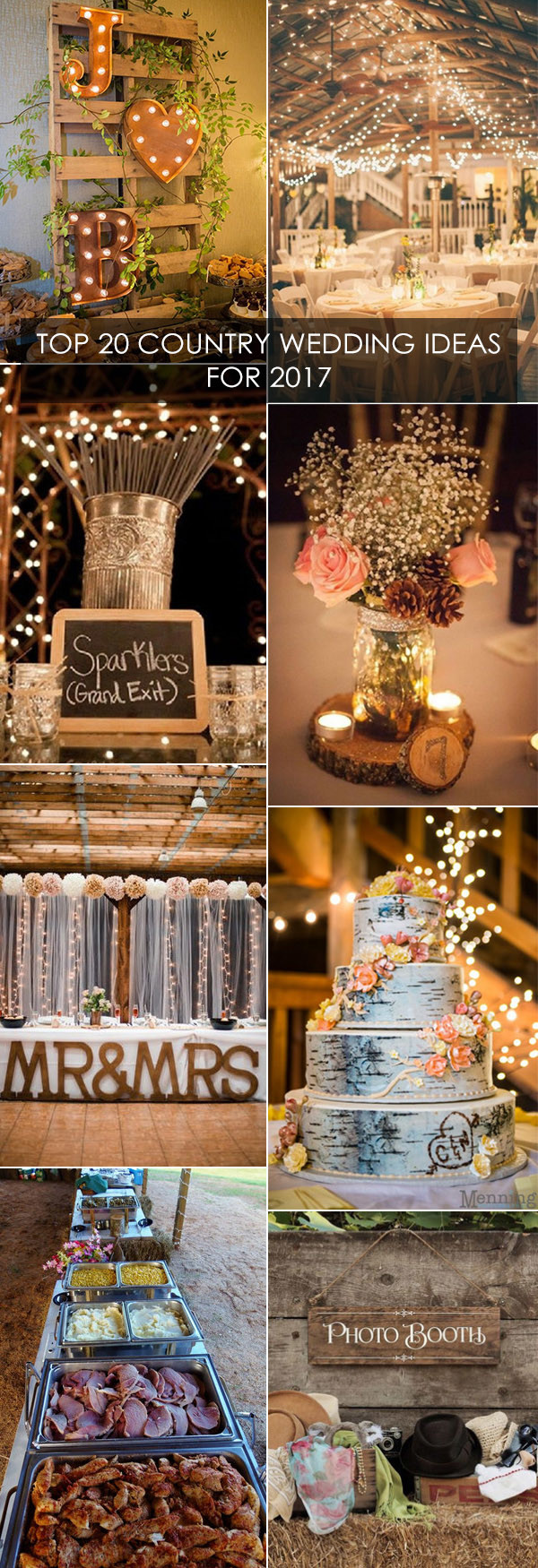 top 20 country wedding ideas for 2017 trends