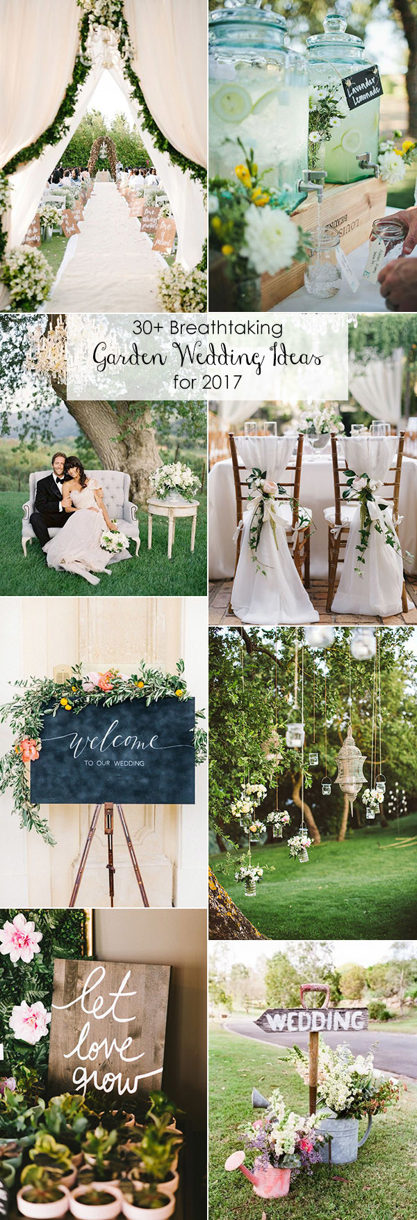 garden themed wedding ideas for 2017