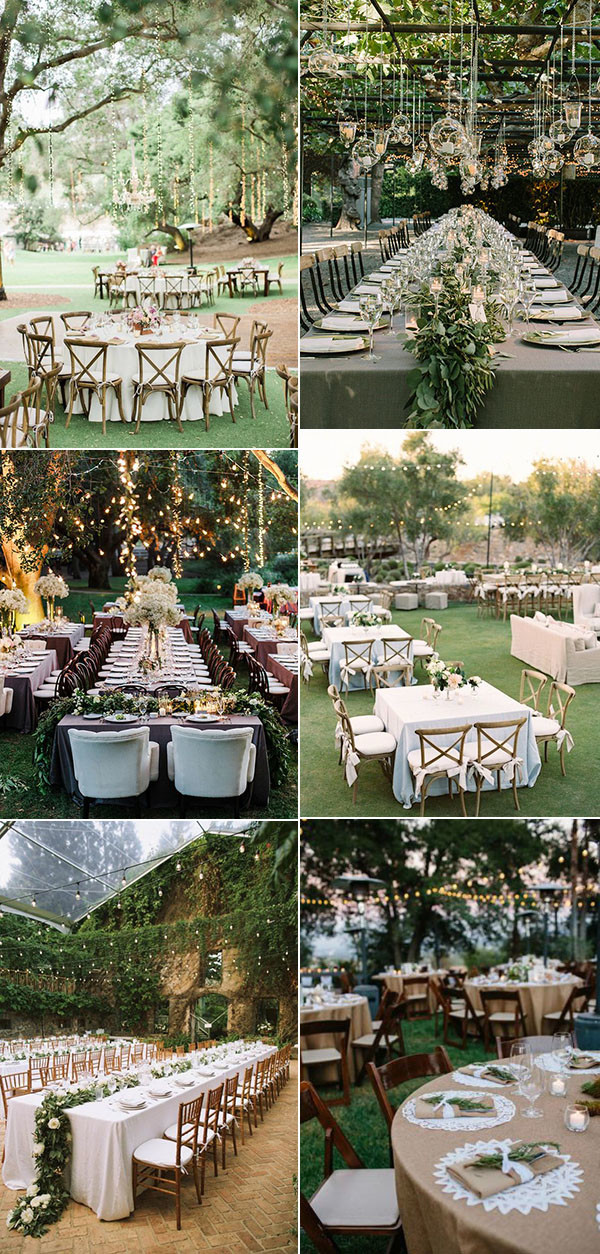 30 totally breathtaking garden wedding ideas for 2017 for Outdoor wedding reception ideas