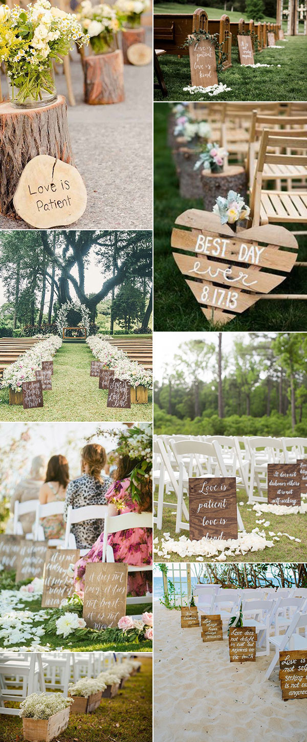 rustic woodland wedding aisle decoration ideas for 2017