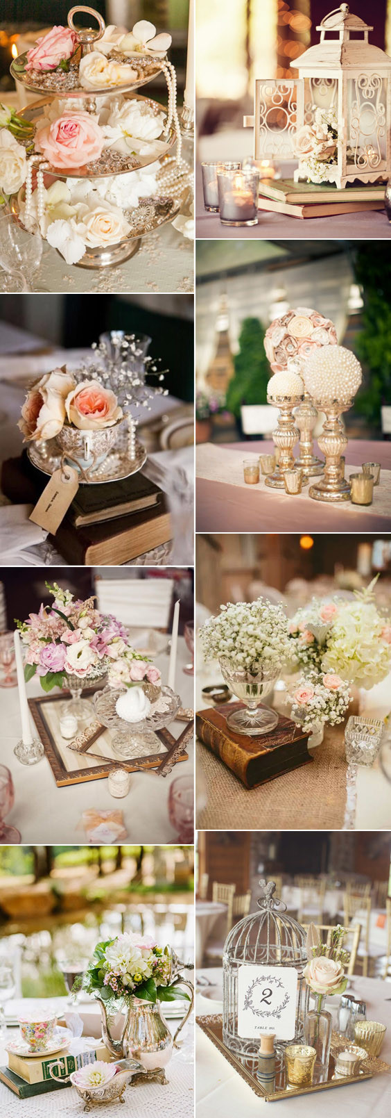 vintage centerpieces wedding ideas 2017 trends