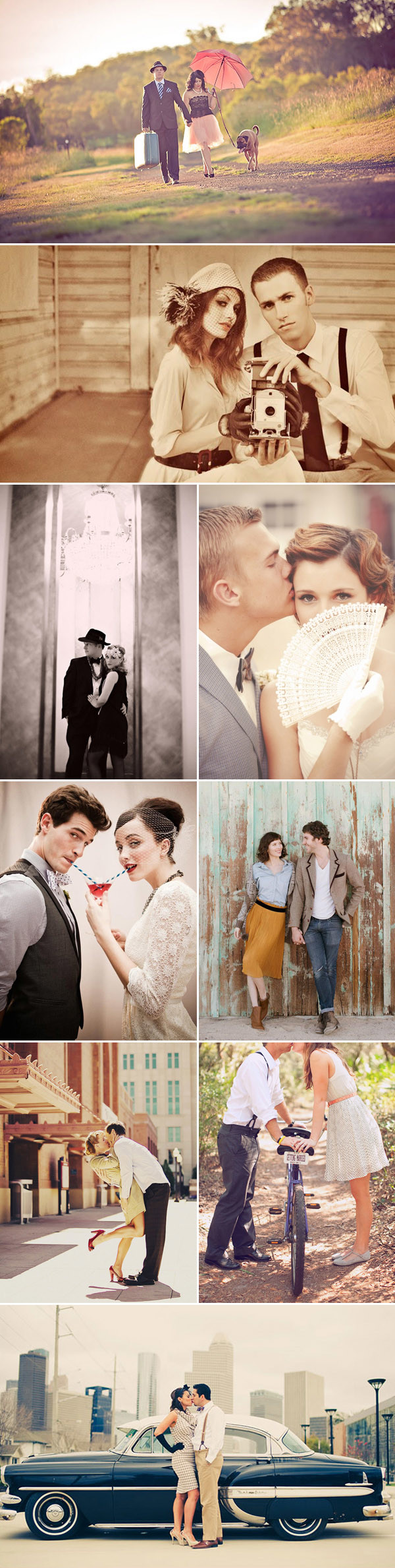 vintage inspired wedding photo ideas