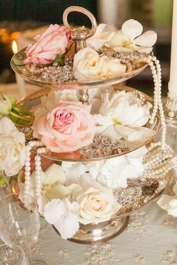 vintage wedding ideas with pearls