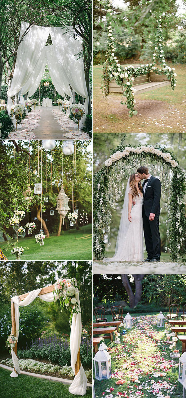 30 totally breathtaking garden wedding ideas for 2017 trends oh best day ever - Garden wedding decorations pictures ...
