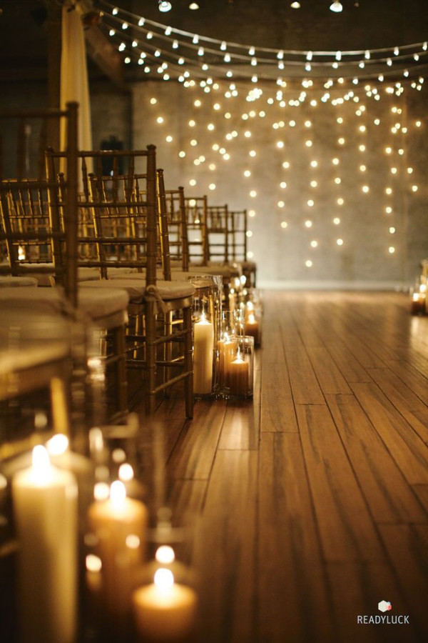 whimsical ceremony wedding ideas with candles