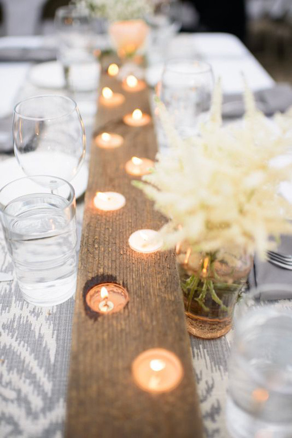 woodland candle wedding centerpieces for 2017 wedding ideas