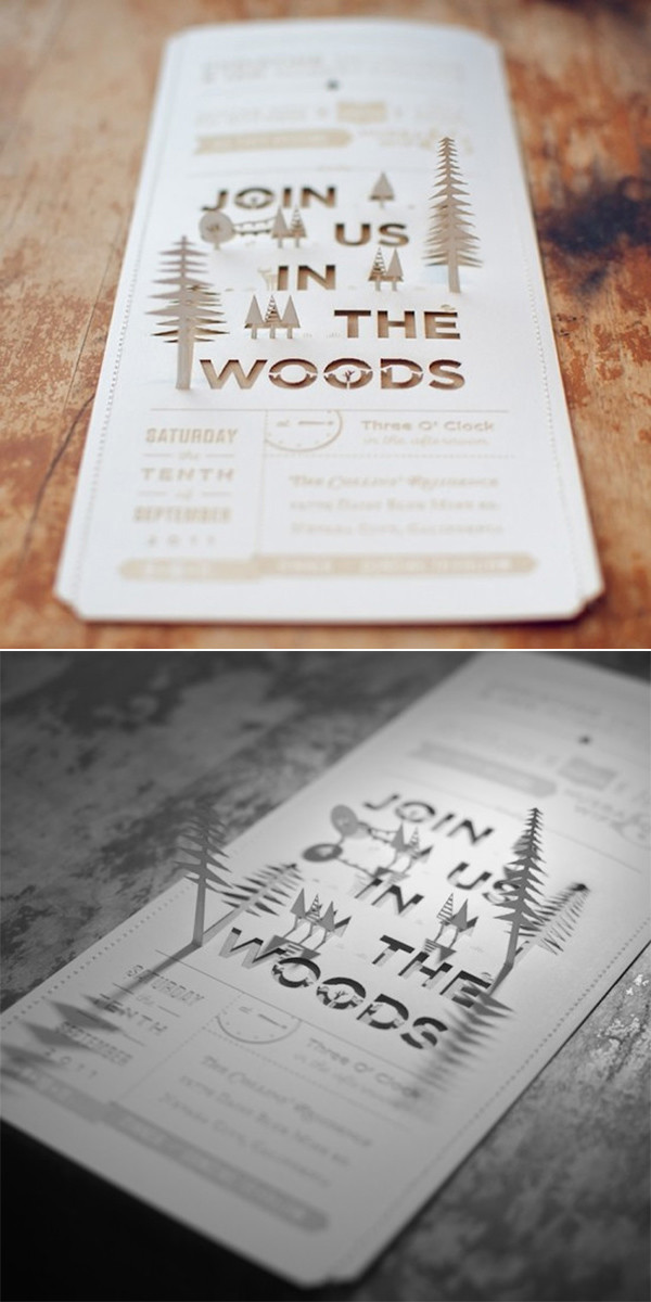 woodland unique laser cut wedding invitations for forest wedding ideas