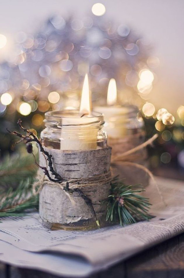 woodland winter wedding centerpiece wedding ideas with candles