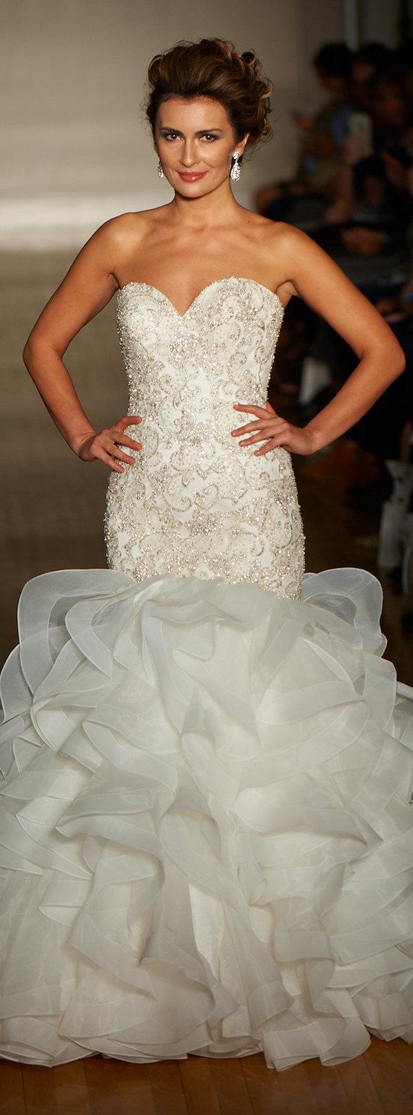 allure mermaid wedding dresses with ruffles