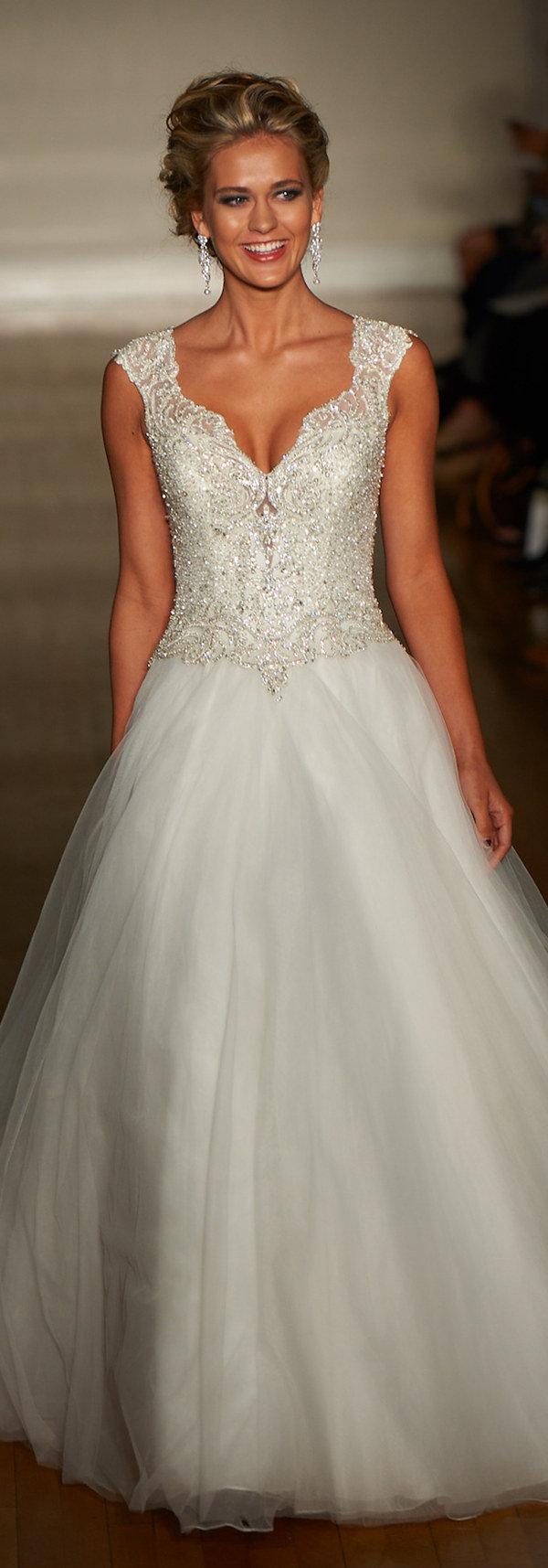 elegant v neck wedding dresses with sequins for 2017