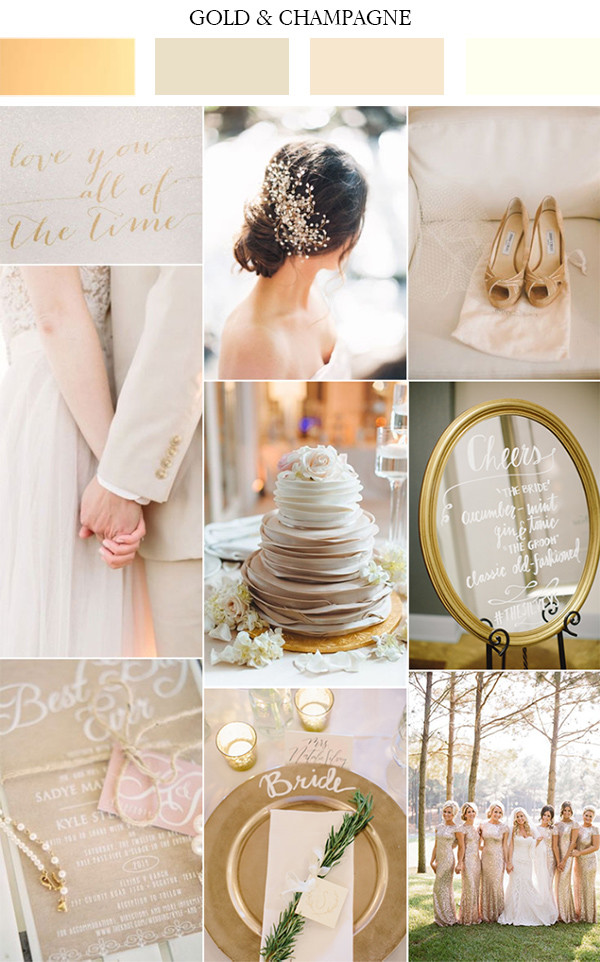 gold and champagne wedding color ideas 2017
