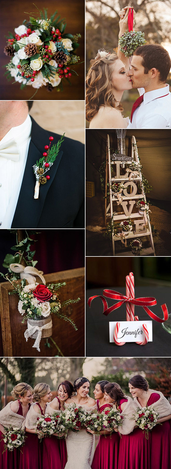 christmas inspired wedding ideas for winter