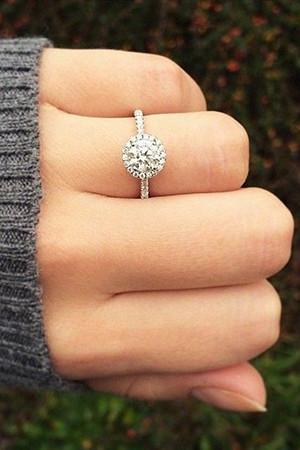 classic halo wedding engagement rings