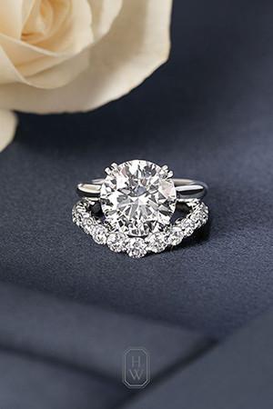 round diamond wedding rings and wedding band