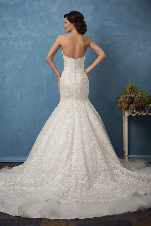 strapless open back wedding dress 2017 trends