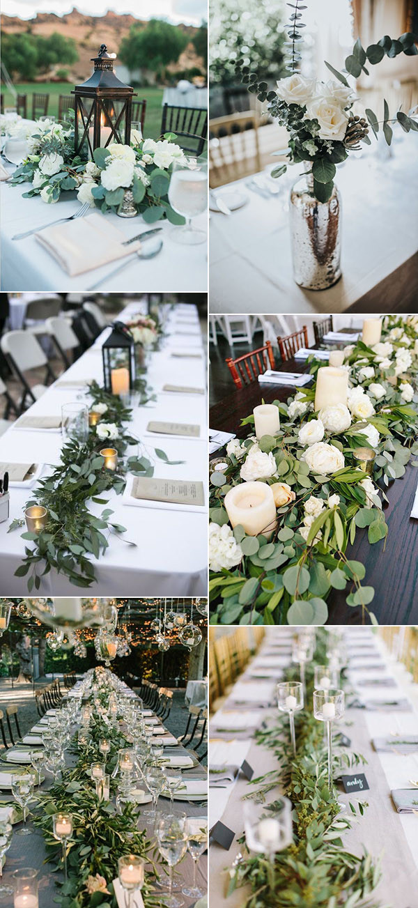 2017 trending greenery wedding centerpiece ideas