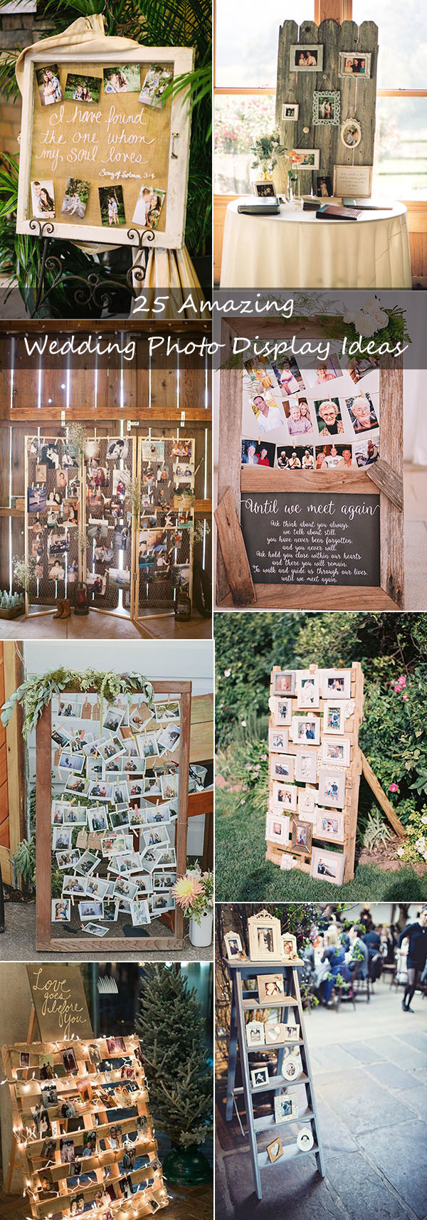 25 amazing wedding photo display ideas