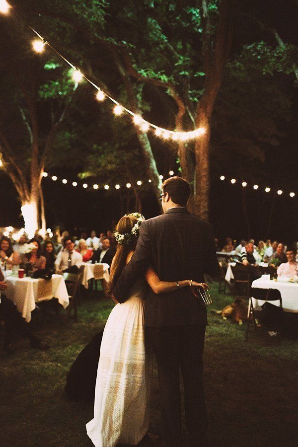 backyard wedding reception ideas with string lights