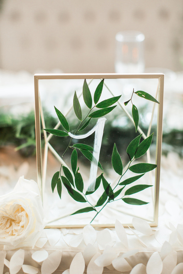 botanical wedding table number ideas