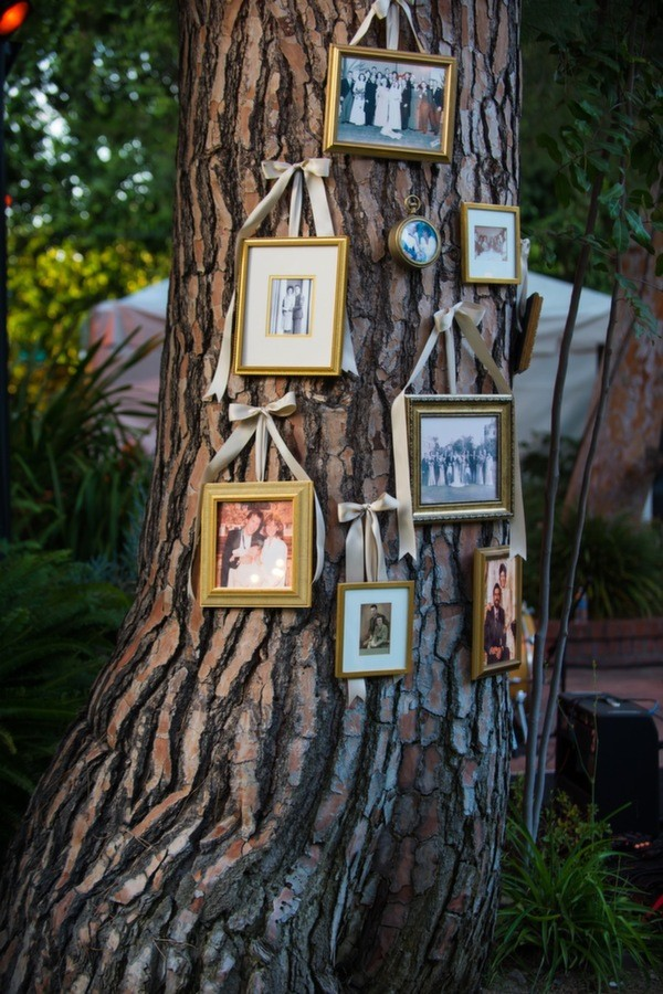 photo display ideas for rustic backyard weddings