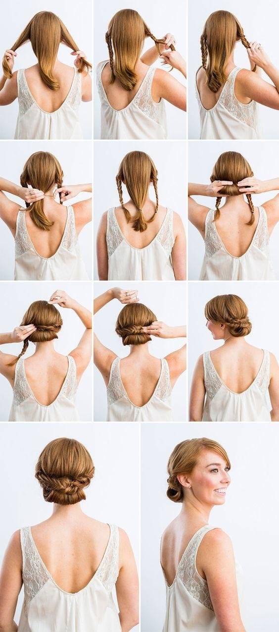 romantic diy braided bridal hairstyle ideas