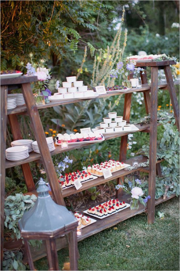 outdoor wedding decoration ideas with ladders