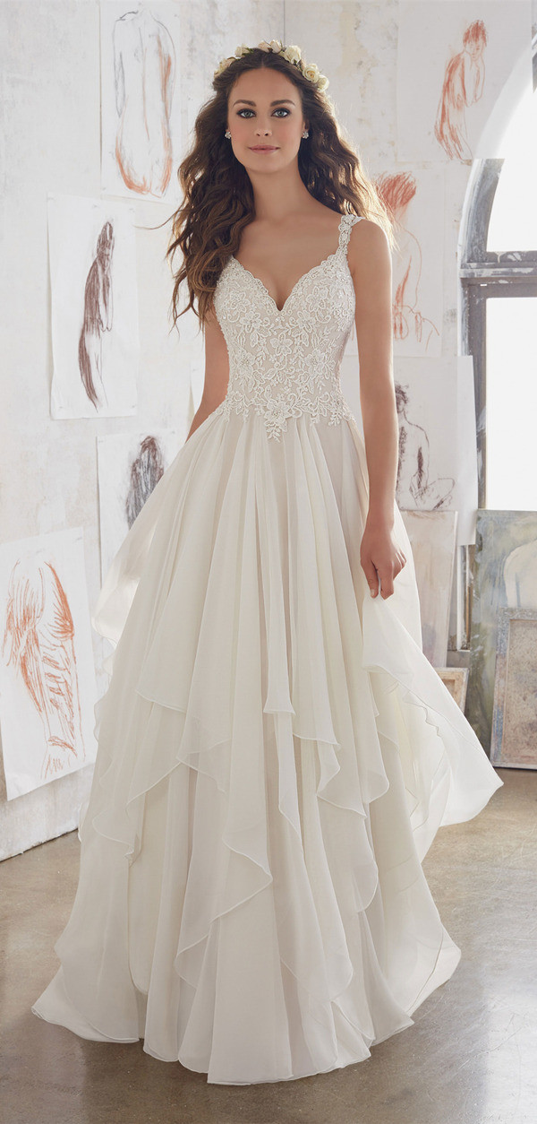 Romantic Ruffles Morilee Wedding Dresses For 2017