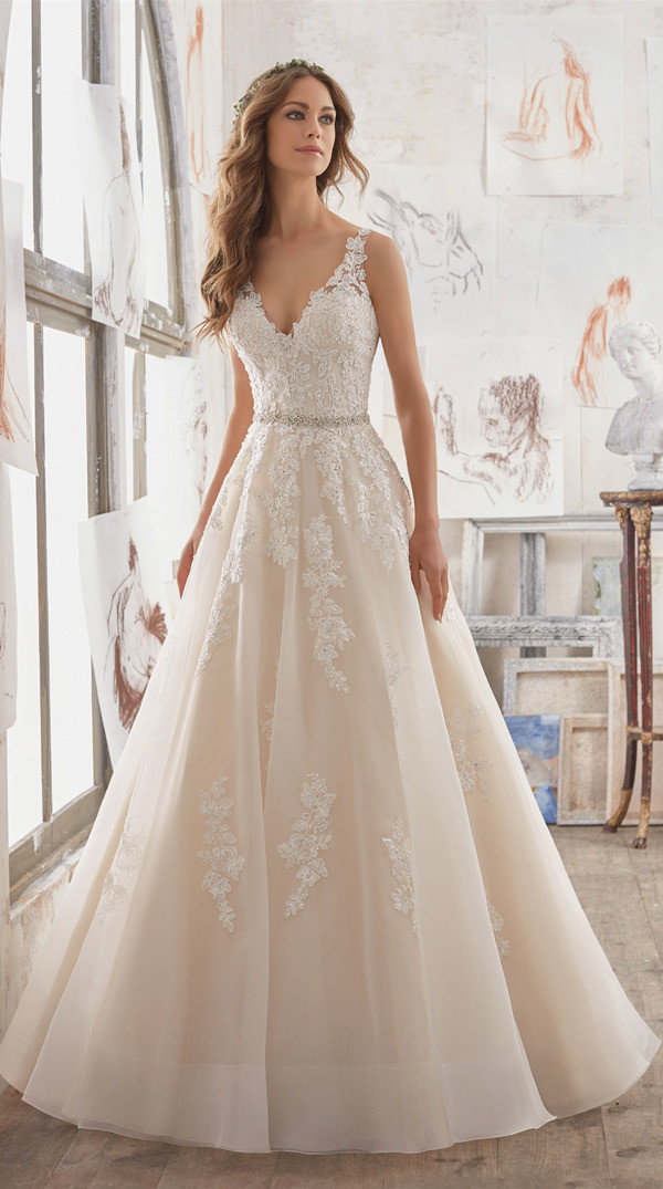 timeless a line wedding bridal gowns from Morilee Madeline Gardner