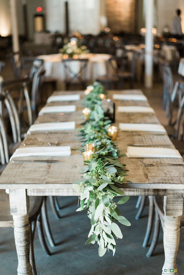 chic industrial wedding reception decoration ideas