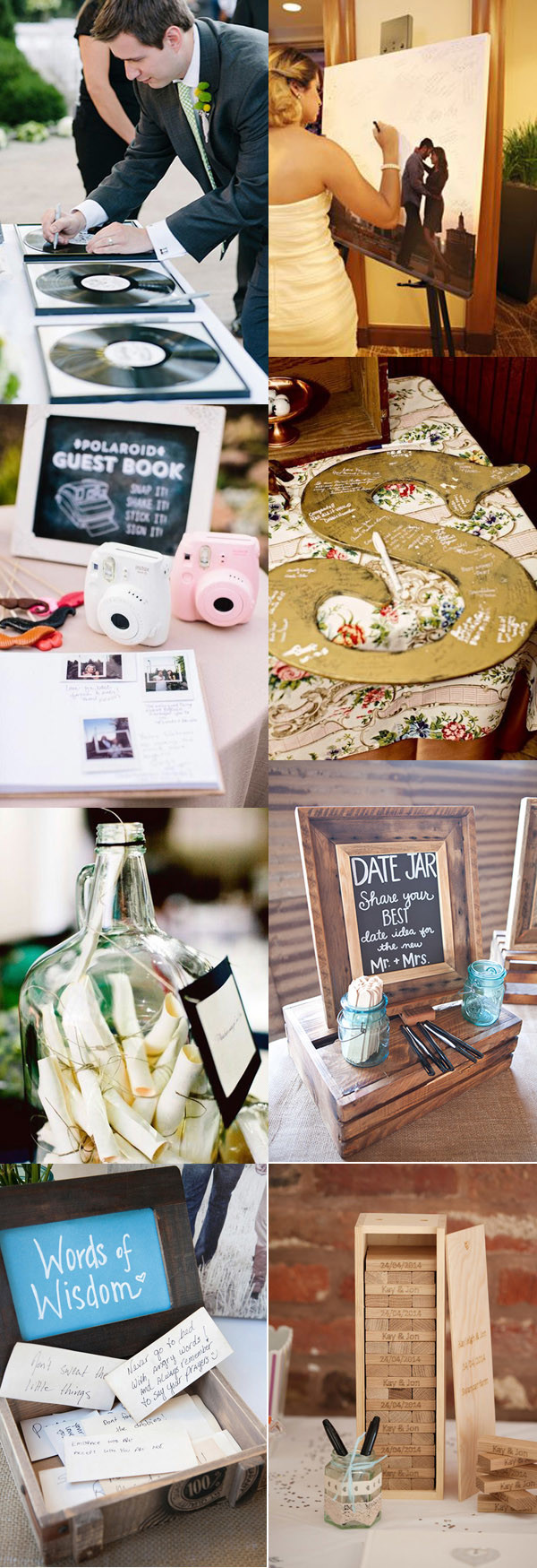 creative wedding guest book ideas for your big day