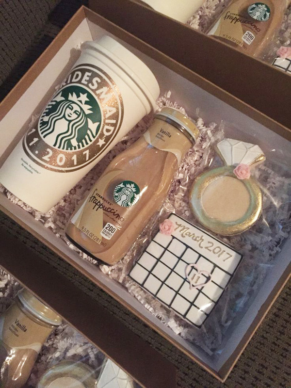 starbucks package for bridesmaid gift ideas