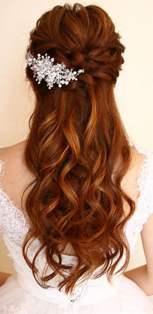 amazing half up half down wedding hairstyles