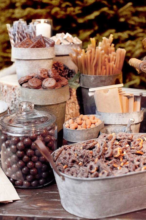 country themed wedding dessert table decoration ideas
