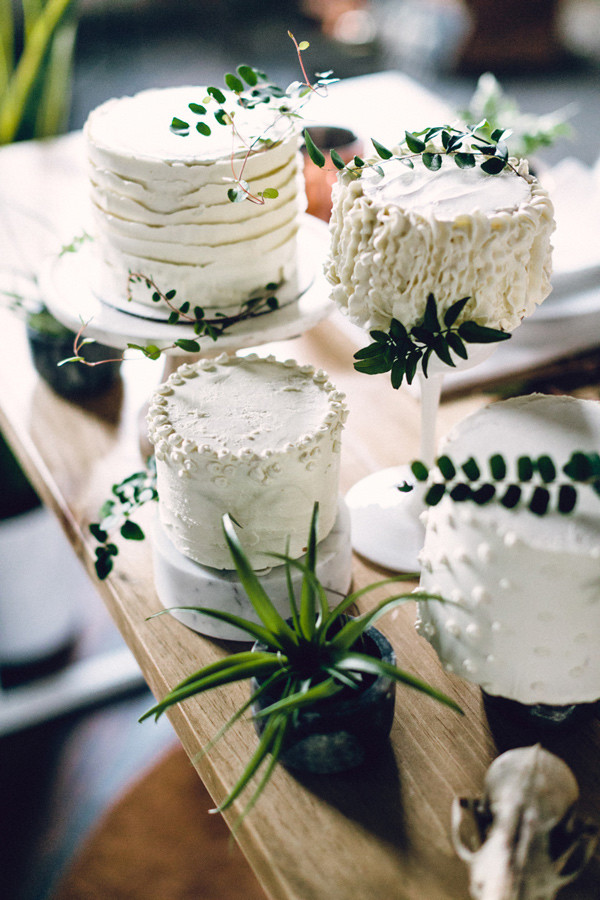 greenery and white wedding cakes for 2017