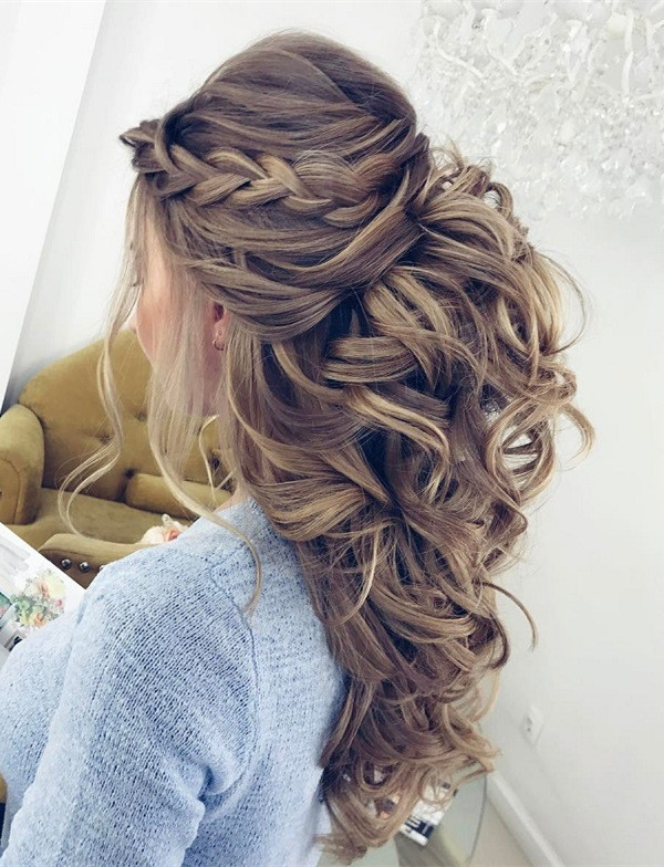 20 Amazing Half Up Down Wedding Hairstyle Ideas