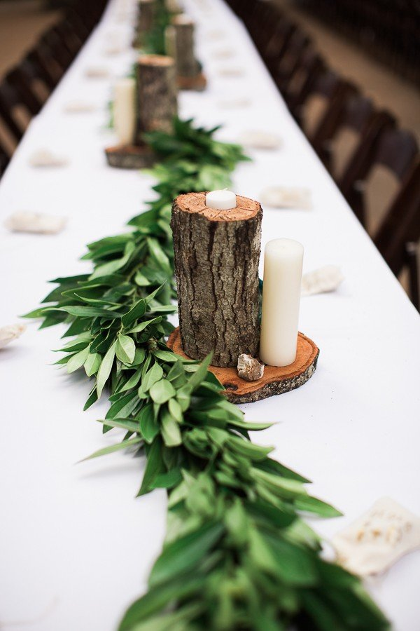 simple and elegant greenery and wooden wedding ideas